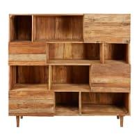 Bibliothèque 4 portes en bois recyclé Tennessee