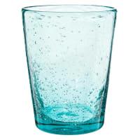 MINT - Lotto di 6 - Bicchiere blu a bolle in vetro