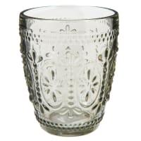 Bicchiere in vetro grigio Floral