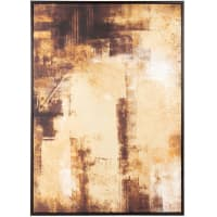 HANSEN - Bild, braun, gold und schwarz, 55x72cm