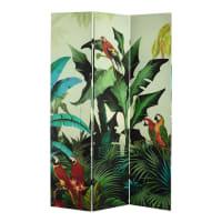 SANTANA - Biombo estampado tropical An. 121cm