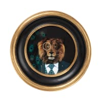 VICTORIA - Black and gold polyresin round photo frame 12x12cm