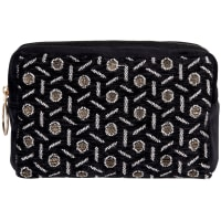 AUSTRIA - Black and gold printed toiletry bag