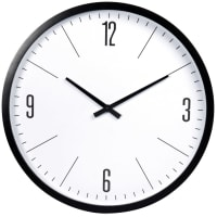 CLARENCE - Black and white clock D55cm