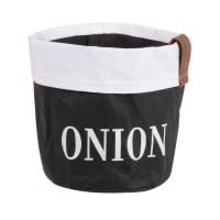 Set of 2 - Black and white paper onion basket