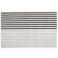 NOVELLA - Set of 4 - Black and white striped placemat