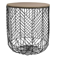 Black Cage Side Table Sahida