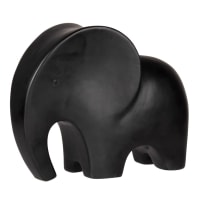 CLIFTON - Black dolomite elephant ornament H8cm