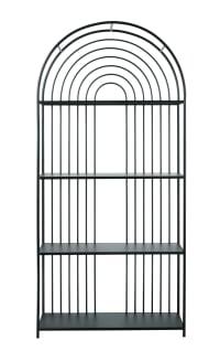 ARCADE - Black metal arch-shaped shelf