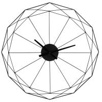 Black Metal Clock D80 Origami