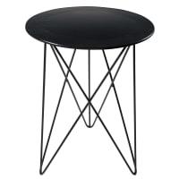 Black metal side table Brad