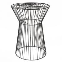 Black Metal Wire Side Table Anori