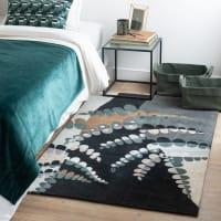 ABEQUA - Blauw, groen en grijs tapijt 90x150