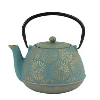 Blue and Gold Cast Iron Teapot 1.2L