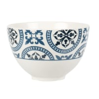 CINTEGABELLE - Set of 2 - Blue and White Earthenware Bowl with Graphic Motifs