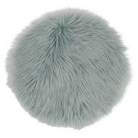 Blue Grey Faux Fur Chair Pad Lapon