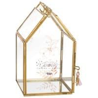 Boîte à bijoux en verre et métal doré Louise