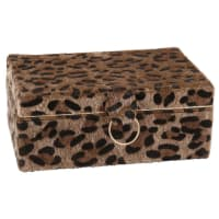 Boîte à bijoux imprimé léopard Panthera
