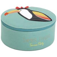 Boîte à bijoux ronde toucan Perroquet