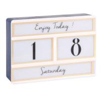 Boite lumineuse Lightbox calendrier