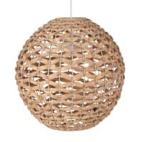 Bolvormige hanglamp van natuurlijke vezel Jacinthe