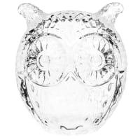 Bonbonnière en verre H 9 cm Hibou