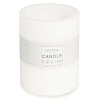 Bougie lanterne blanche H 12 cm