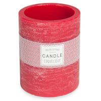 Bougie lanterne rouge H 12 cm
