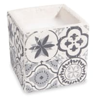 Bougie motif carreau de ciment Tribu