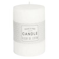 Bougie parfumée cylindrique blanche 7 x 10 cm