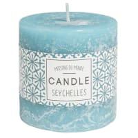 Lot de 2 - Bougie parfumée cylindrique bleue 7 x 7 cm
