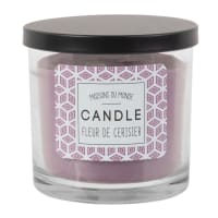 Bougie parfumée en verre violet