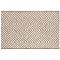 Brauner Outdoor-Teppich mit grafischen Motiven 160x230