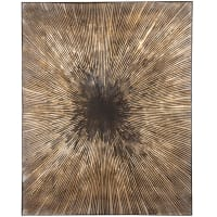 LULABIA - Brown, gold and black painted canvas 80x100cm