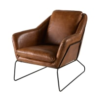 Brown Leather Armchair Majestic