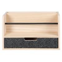 Büromöbel mit 1 Schublade, braun und schwarz