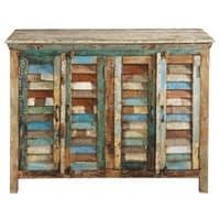 Buffet en bois recyclé multicolore L 120 cm Calanque
