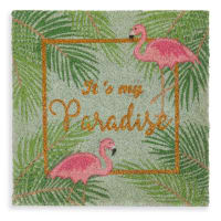 Bunte Fußmatte 45x45 Flamingo