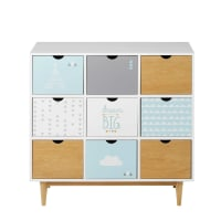 Cabinet 9 tiroirs imprimé Inuit