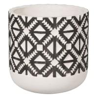 Cache-pot en céramique motifs ethniques H13 Piquant