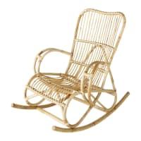 Cadeira de balanço de rotim