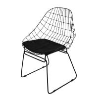 Cadeira de metal preta Orsay