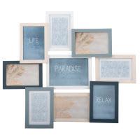Cadre multivues 9 photos en pin 58x50 Relief