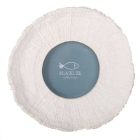 Cadre photo rond blanc D10 Coral