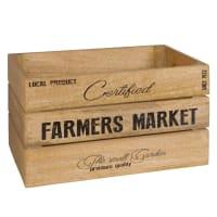FARMER MARKET - Caixa de madeira de mangueira estampada