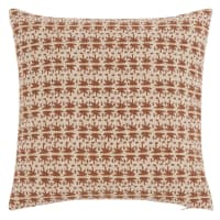 GARNES - Camel and gold printed cushion cover 40x40cm