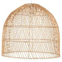 WANANI - Candeeiro de teto em forma de campânula em rattan entrançado