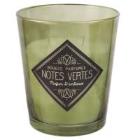 Candela profumata in vetro verde Notes Vertes