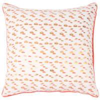 Capa de almofada de algodão com motivos cor-de rosa e dourados 40x40 Papaye