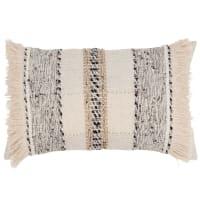 ADIGALA - Capa de almofada de algodão cor linho e cinzenta 30x50cm